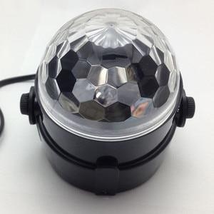 Image 4 - 110V 220V Mini RGB LED Crystal Magic Ball Stage Effect Lighting Lamp Bulb Party Disco Club DJ Light Laser Show Lumiere Beam SL01