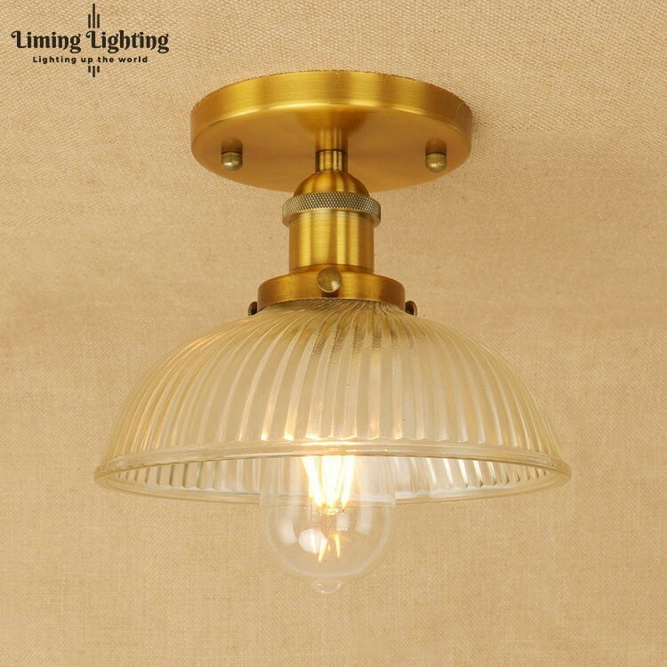 Loft Style Edison Industrial Vintage Ceiling Lamp Antique Iron Glass Ceiling Light Fixtures Indoor Lighting Lamparas loft vintage mirror glass ceiling lamp retro ceiling light industrial edison bulb antique lampshade ambilight lighting fixture