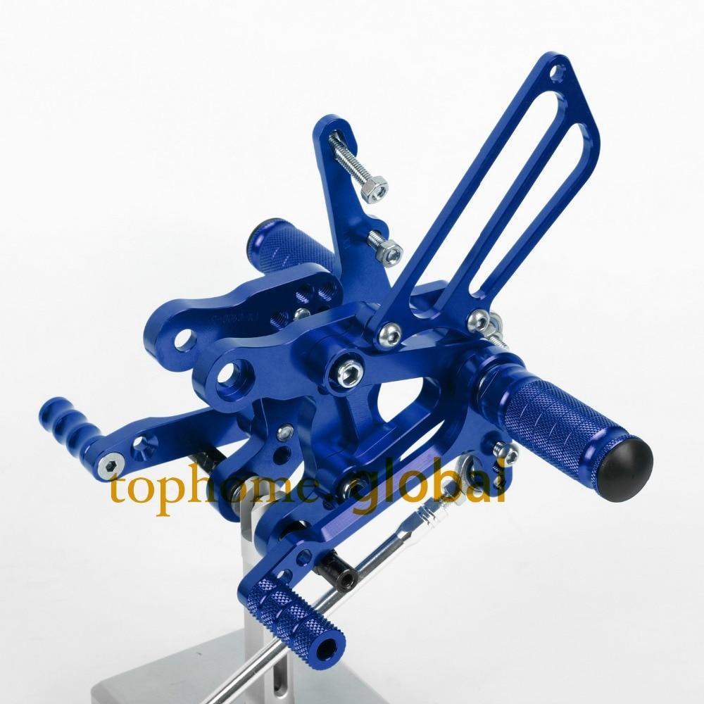 CNC Motorcycle Parts Blue Rearsets Foot Pegs Rear Set For HONDA CBR400 NC29 1993-1994 1995 1996 1997 1998 1999