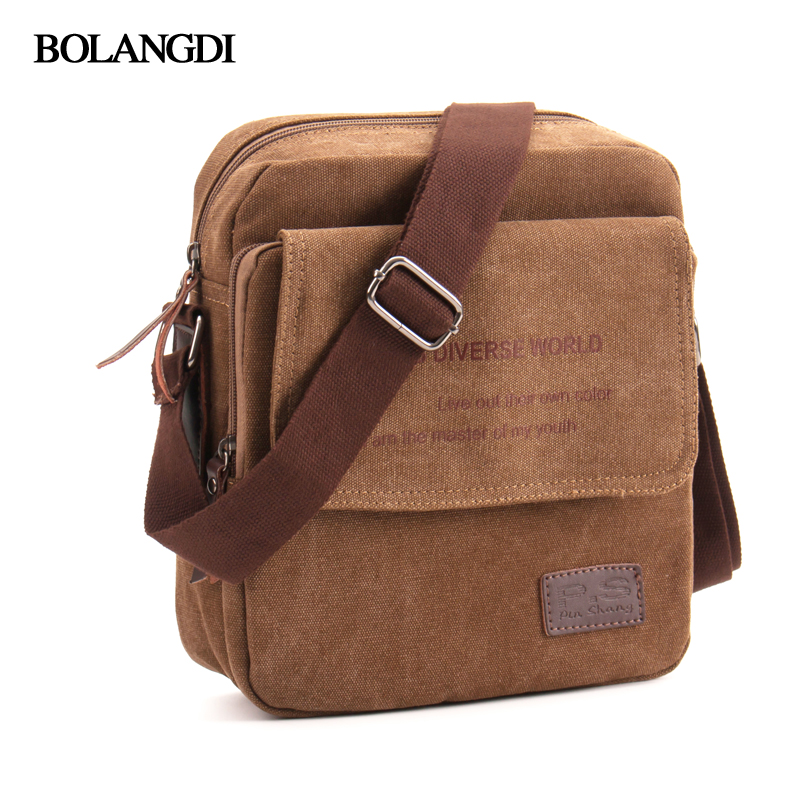 цены на Hot Sale 2018 BLD Brand Men Casual Messenger Bag High Quality Canvas Shoulder Bags For men Business Travel Crossbody Bag