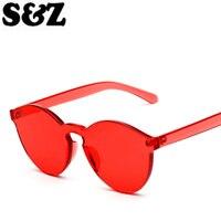 Crystal Transparent Cat Eye Sunglasses Women Fashion Lady Vintage Plastic Frame Mirror Candy Colors Women S