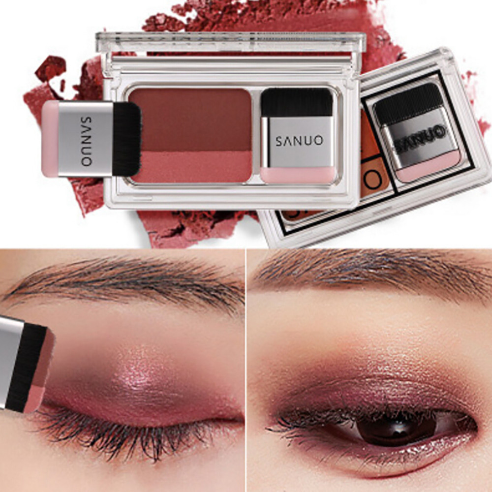 Back To Search Resultsbeauty & Health Popular Brand Two-tone Lazy Eye Shadow Shimmer Lasting Natural Make Up Seal Eye Shadow Gradient Pearl Eye Shadow With Brush Tslm1