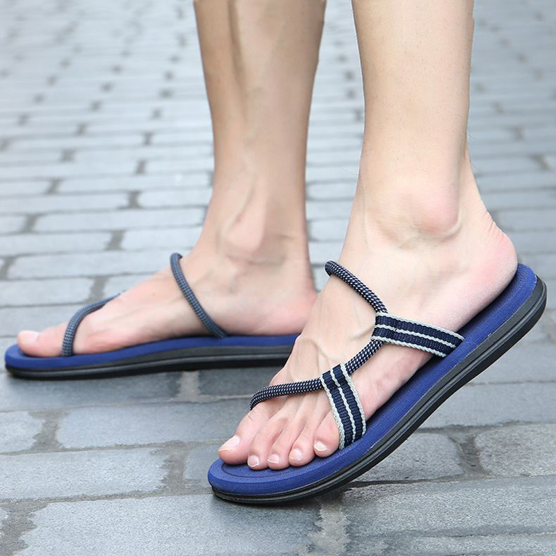 Men sandals 2018 men comfortable summer slippers casual flat beach shoes non-slip flip flops for men size 36-45