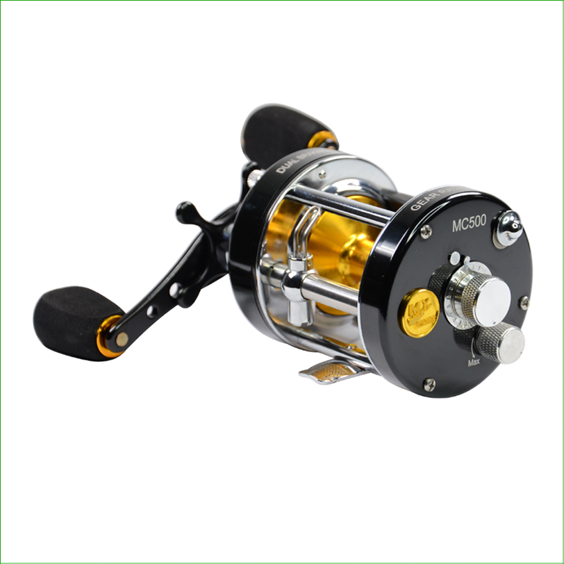 FMC trolling reel baitcast reel 6061 AL Dual Brake System Centrifugal and Magnetic Brake System