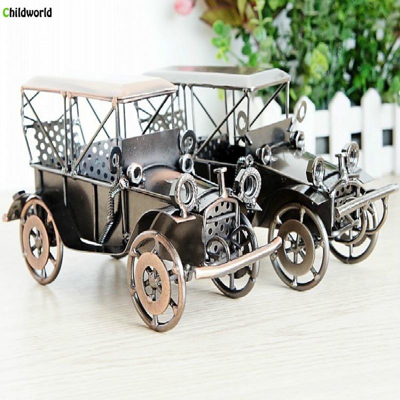 European Retro 24 Alloy 1924 Ford Motor Car Model Old Car Furniture Decoration Bar Decoration