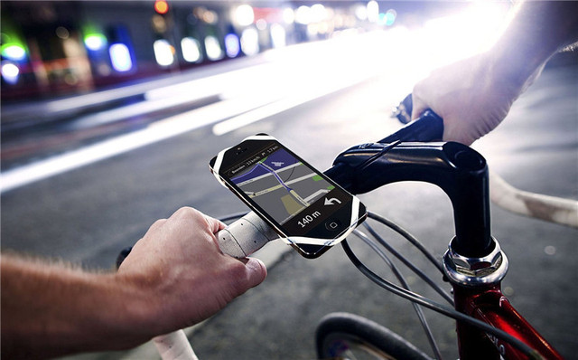 Universal Silicon Smartphone Bike Mount Cell Phone Holder Fits for iPhone and other Smartphone and Every Bike