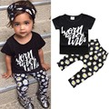 3 PCs Bobo Choses Baby Girl Set Cute Headband + Letter T-shirt + Daisy Floral Harem Pants Leggings Infant Summer Brand Clothes