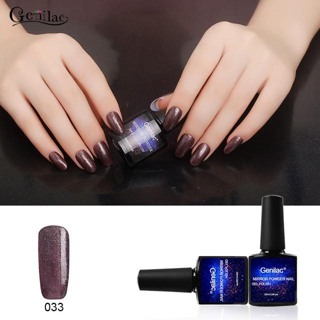 Uñas de Gel de Uñas de calidad Genilac Espejo Polvo 10ml1pcs UV Soak ...
