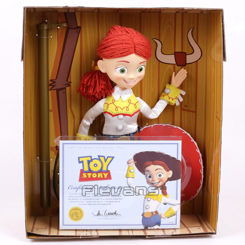 Toy Story Jessie The Yodeling Cowgirl Talking Doll with Yarn Hair PVC Action Figure Collectible Model Toy 30cm  toy story 3 talking woody jessie pvc action figure collectible model toy doll dsfg268