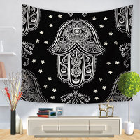 Indian Mandala Eye Hand Tapestry Boho Wall Hanging Decor Beach Blanket Cloth Tapestries Home Decoration