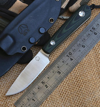 Scout D2 Steel Blade Tactical Fixed Blade Knife G10 Handle Camping Survival Straight Knives With K Sheath Outdoor Hunting Tools