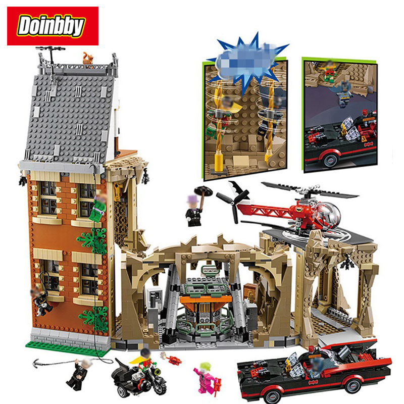 Batman Movie MOC Batcave DC Batman Super Heroes Model Building Block Bricks Toys Compatible With Legoings 76052 2566pcs genuine dc batman super heroes moc batcave educational building blocks bricks toys gift for children 76052