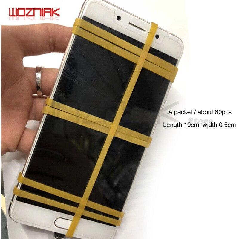 Wozniak 10pcs/lot Mobile LCD Screen Wide 5mm Binding Tape Elastic Rubber Band No Harm Screen Repair Rope