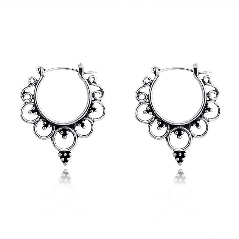 1 пара изысканные серьги королевы обруч корона для женщин Ретро антикварные цветные полые круглые серьги ювелирные изделия