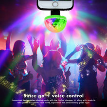 Auto Car Accessories Car lights Mini Portable USB Disco Lights Family Reunion Magic Ball Light Mobile Phone USB Light Motorcycle(China)