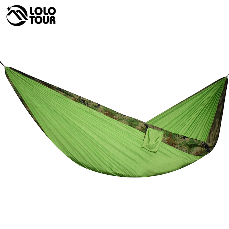 24 Color 2 People Portable Parachute Hammock Camping Survival Garden Flyknit Hunting Leisure Hamac Travel Double Person Hamak ...