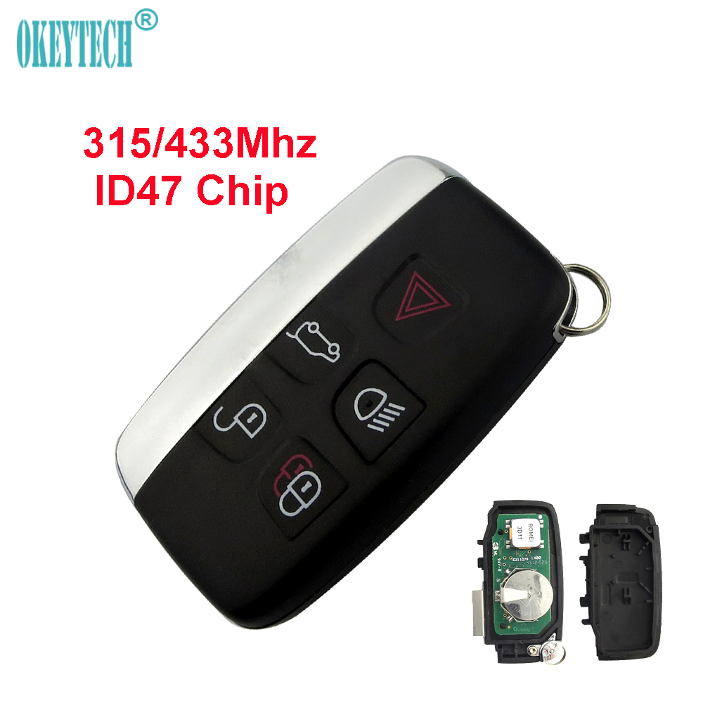 OkeyTech for Landrover Smart Key 5 Button 315/433Mhz ID47 Chip Keyless Remote For Land Rover Range Rover Sport Evogue LR4 Luxury цена