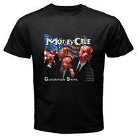 Yeni MOTLEY CRUE * Nesil Domuz Kaya Legend erkek Siyah T-Shirt Boyutu S 3XL Marka Pamuk Erkekler Giyim Erkek Slim Fit T gömlek