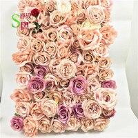 SPR смешанный цвет цветочные композиции для искусственная Роза цветок стены фоновая Арка стол центральный украшения 10 шт./партия