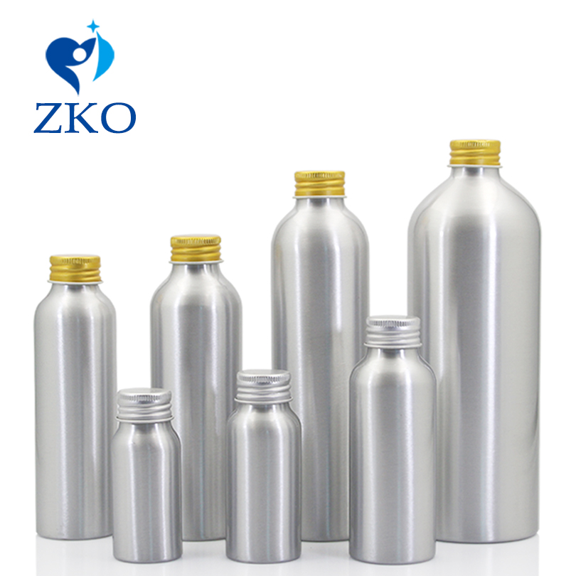 Hot! 5pcs/Lot 30ml-500ml Aluminum Bottle, Aluminum Screw Cap,free Shipping With Low Price Refillable Bottle