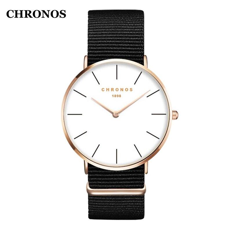 CHRONOS Mode Uhren Männer 2018 Unisex Uhren Männer Quarz Armbanduhr Rose Gold Silber Männlichen Uhr Relogio Masculino