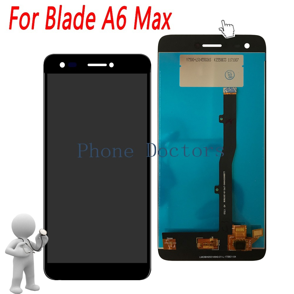 5.5'' Full LCD DIsplay + Touch Screen Digitizer Assembly For ZTE Blade A6 Max ; Black ; New ; 100% Tested ; Tracking Number