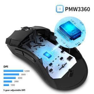 Image 3 - Delux M625 PMW3360 חיישן משחקי עכבר 12000DPI 12000FPS 7 כפתורים RGB תאורה אחורית אופטי Wired עכברים עם אש מפתח עבור FPS גיימר