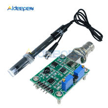 Liquid PH 0-14 Value Detection Detect Regulator Sensor Module Monitoring Control Meter Tester BNC PH Electrode Probe For Arduino