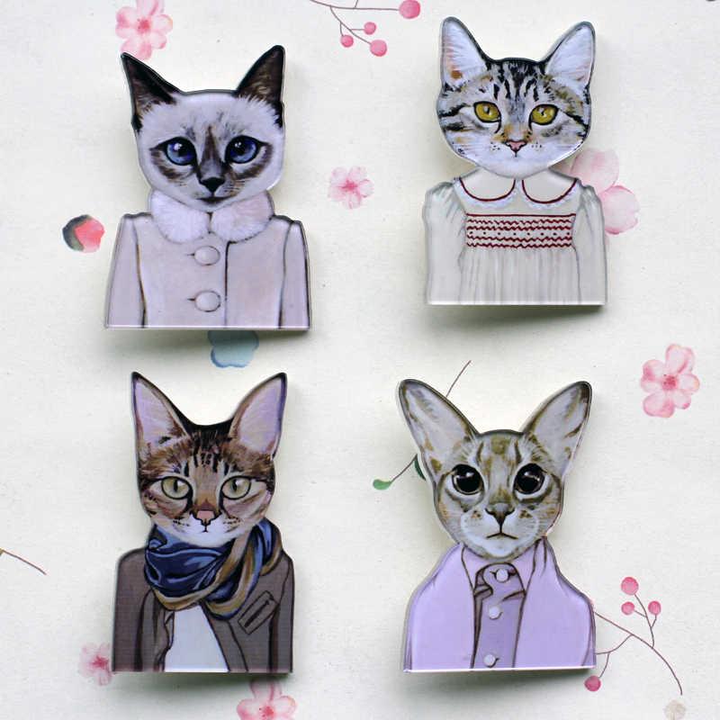 Jepang Kucing Nenek Kucing Kucing Hitam Bros Pin Kembali Enamel Bros Lencana Aman Kerah Pin Wanita Perhiasan Hadiah