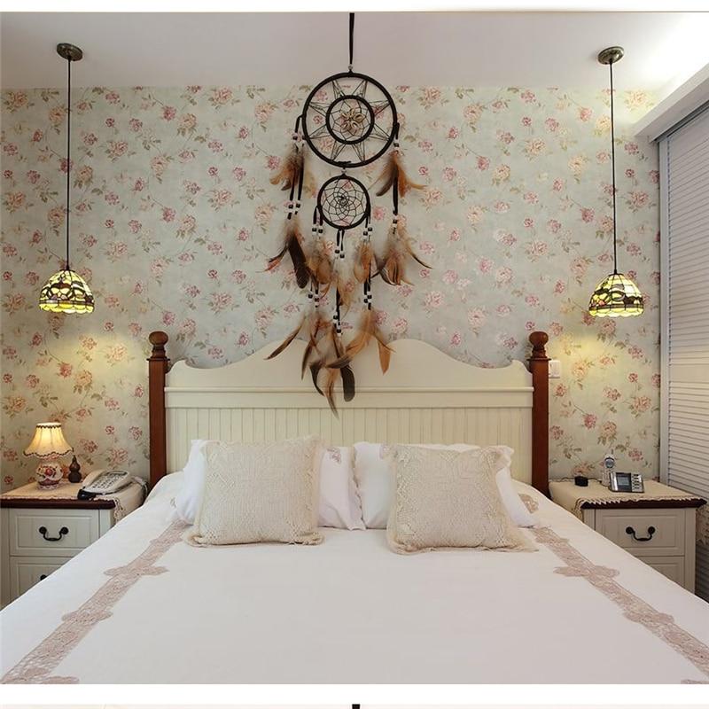 1 Pc Indische Hängen Traum Catcher Diy Home Decor Dekoration Handwerk Große Große Metall Ring Rustikalen Wohnzimmer Bettwäsche Dreamcatcher Fortgeschrittene Technologie üBernehmen