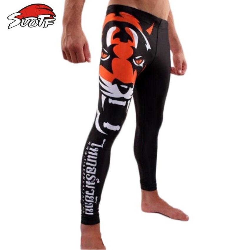 SUOTF MMA Guantoni Da Boxe tigre testa di tigre modello in cotone prepotente di sport di fitness di formazione pantaloncini muay thai boxe pantaloncini corti thai