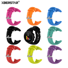 XBERSTAR Watchband Strap for for SUUNTO SPARTAN ULTRA Sports Silicone Watch Band Wristband with Tools