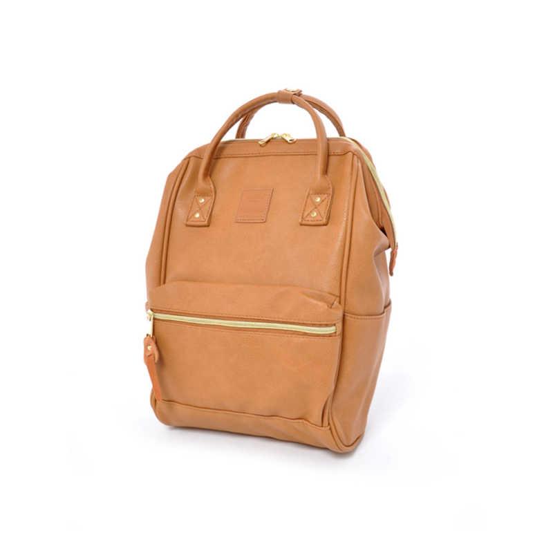 ファッションキャンパス男性と女性のバックパック、新ブランド anello pu 大男性と女性の学校のバックパックレジャーラップトップ旅行バッグ
