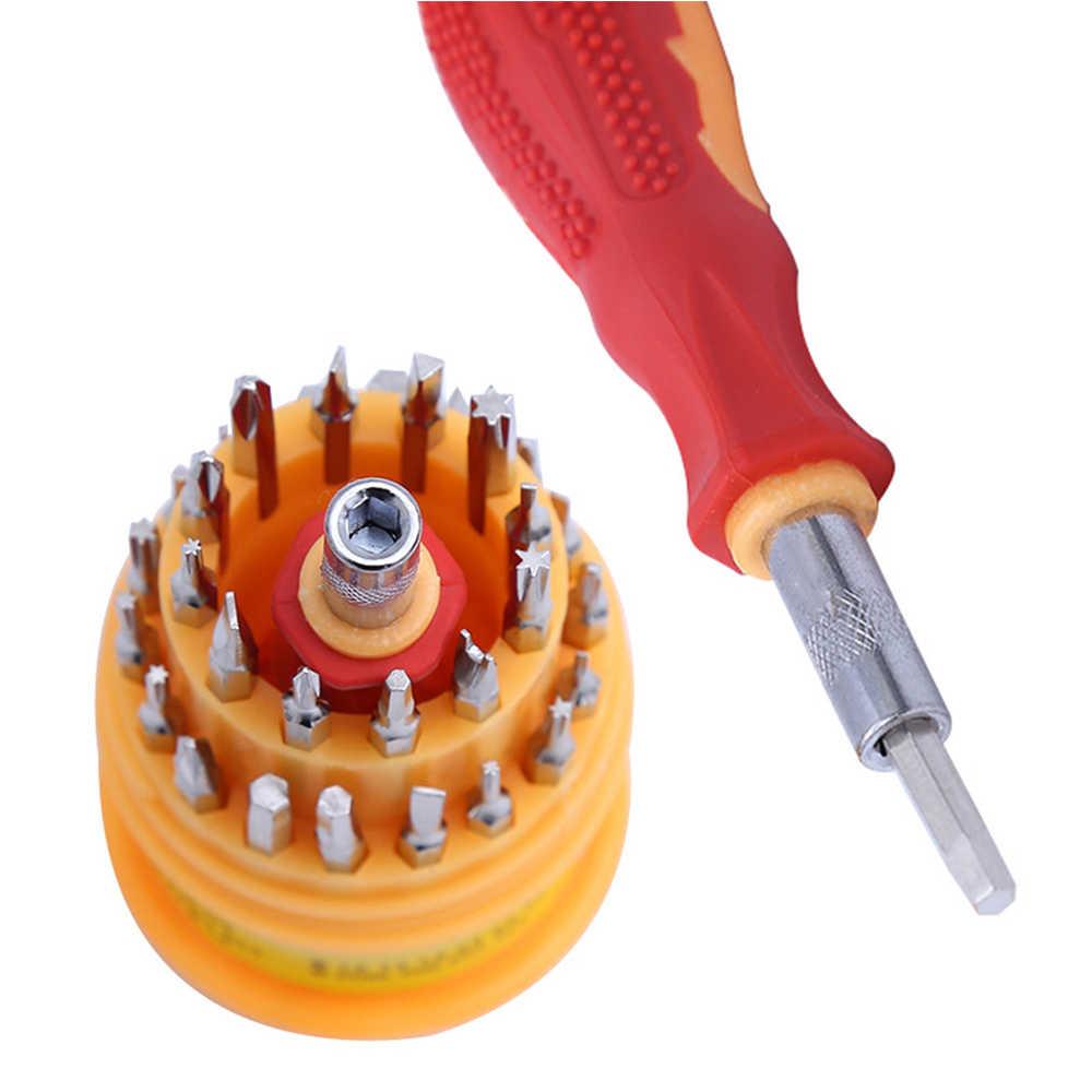 Juego de destornilladores multifunción de 31 piezas, juego de herramientas para el hogar de destornillador, juego de cabezales, herramienta de reparación para teléfonos móviles