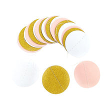 2019 New Arrival Glitter Circle Polka Dots Garland Banner Bunting Party Decor Pink White And Gold DIY Decoration Supplies(China)