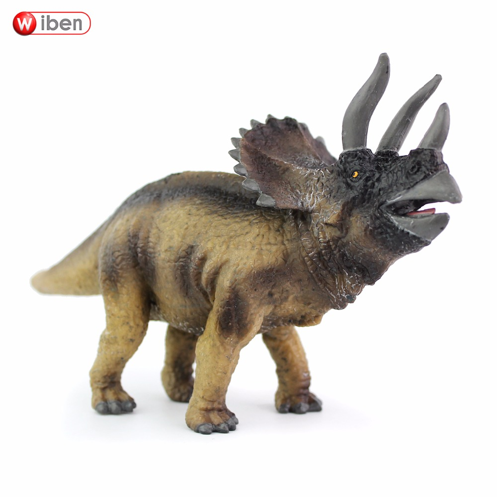 Wiben Jurassic Triceratops High Quality Simulation Dinosaur Toys  Action Figure Animal Model Collection Xmas Gift For Kids wiben 3pcs jurassic triceratops tyrannosaurus rex parasaurolophus cub model dinosaur toys action toy figures collection gift