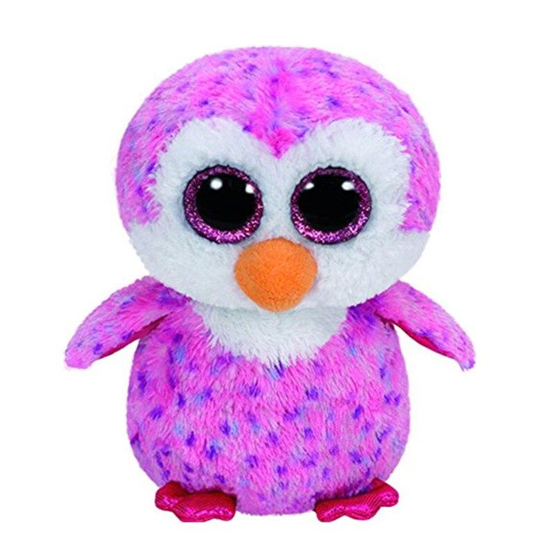 6 15 см Beanie Боос оригинальный большой Средства ухода для век розовый плюшевый пингвин игрушка укомплектованы куклы дети подарок на день рож...