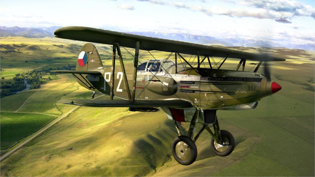 ⊹Avión avión CG Avia B 534 militar Sala hogar pared arte decoración ...