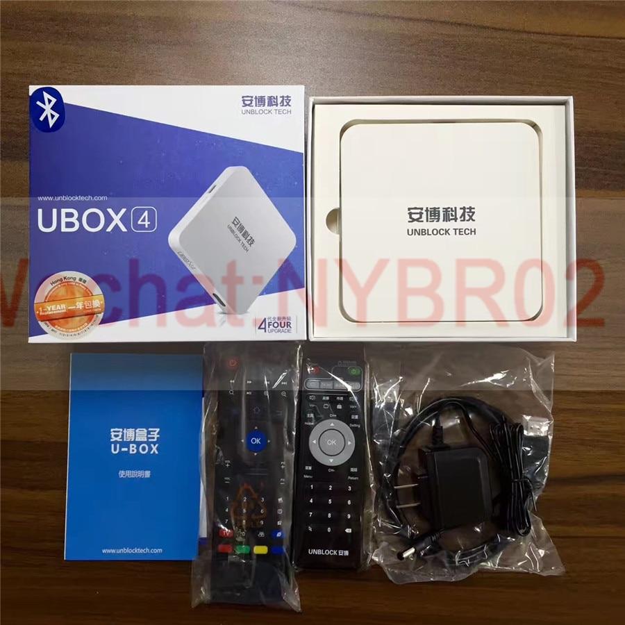 Unblock Tech UBOX 4 BLACK UPRO OS Android Free IPTV Box PRO2 Smart TV Box  Bluetooth HD 4K 1000 Free Live TV Channels