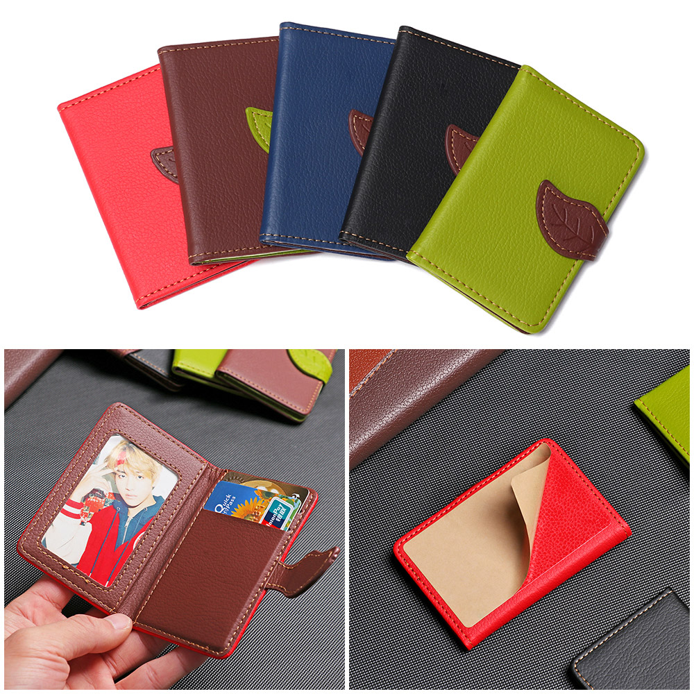 New Mobile Phone Card Holder Elastic Adhesive Pocket Leather Credit Card Pocket  Holder Case For Cellphone Fashion Accessory