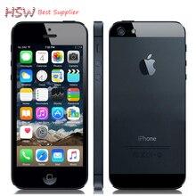 Usine déverrouillé APPLE iPhone 5 Cellulaire D'origine Téléphone iOS 8 OS Dual core 1G RAM 16 GB 32 GB 64 GB ROM 4.0 pouce 8MP Caméra WIFI 3G GPS