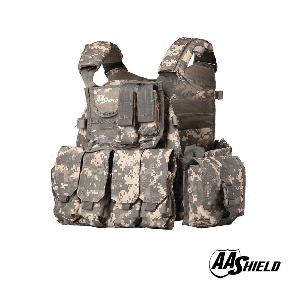 Security & Protection Aa Shield Molle Plates Carrier 6094 Style Military Tactical Equipment Vest /acu At Any Cost Safety Clothing
