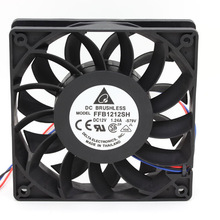 10PCS for delta FFB1212SH 12025 12cm 120mm DC 12V 1.24A 3-pin powerful cooling fan
