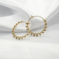 PINJEAS handmade gold filling natural pearl wiring round hoop earring minimalist earrings for women Jewelry