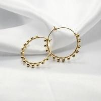 PINJEAS handmade gold filling natural pearl wiring round hoop earring minimalist earrings for women Jewelry