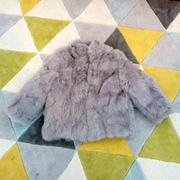 Fashion New Child fur coats,Children's 100% real rabbit fur coats,Cute Baby winter coats rabbit coat fur jackets overcoats CF102