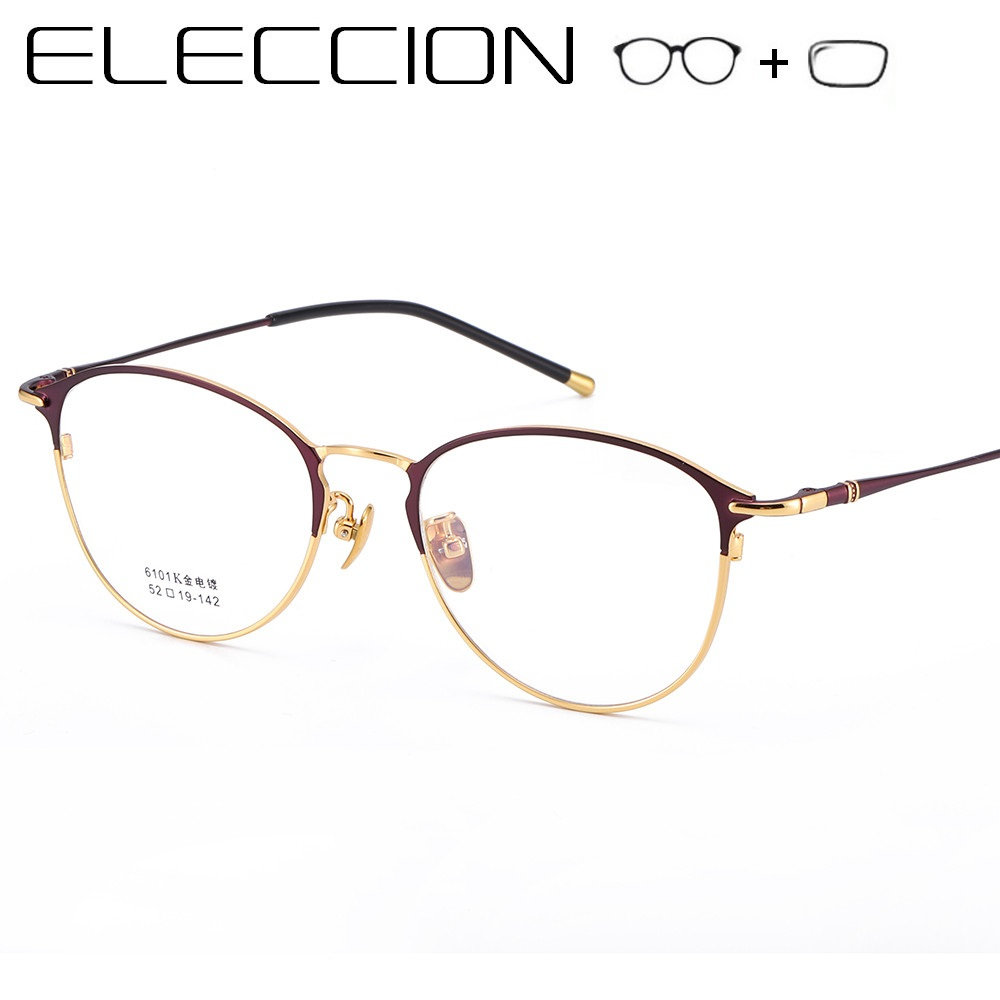 Cat Eye Prescription Glasses Women 2019 Fashion Vintage Round Full Frame Myopia Optical Frame Female Eyeglasses With Diopter(China)