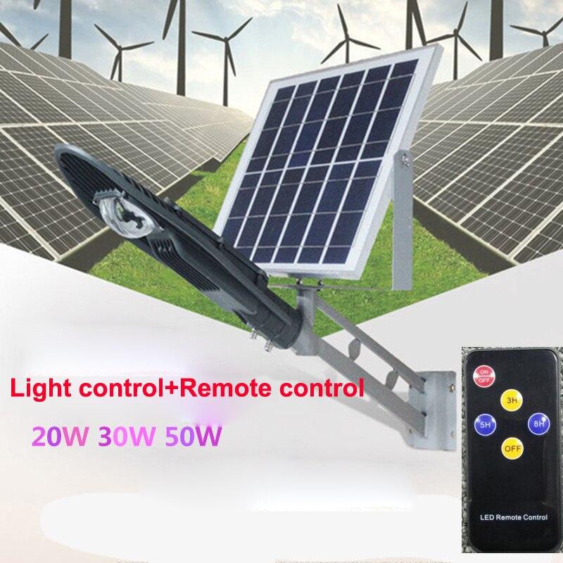 5pcs Remote Control Solar Panel Powered Road Light 20W 30W 50W LED Street Light Outdoor Garden Path Spot Wall Emergency Lamp цена