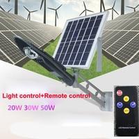 5pcs Remote Control Solar Panel Powered Road Light 20W 30W 50W LED Street Light Outdoor Garden Path Spot Wall Emergency Lamp