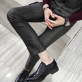 Quality Dress Pants British Casual Slim Fit Men Pants Fashion Plaid Mens Dress Pants Business Formal Wear Trousers Men 5XL-M Hot